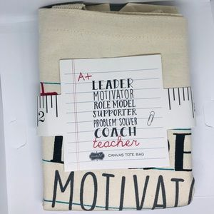 NEW Canvas Tote Bag - Teacher/Educator